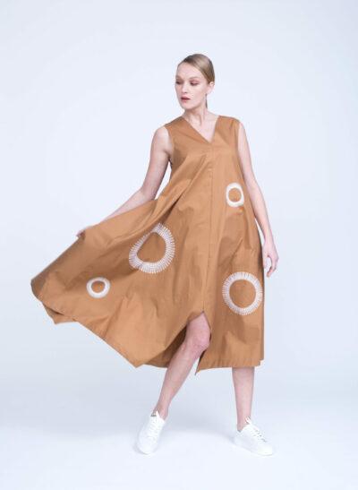 שמלה | COMFORT ZONE | קרמל