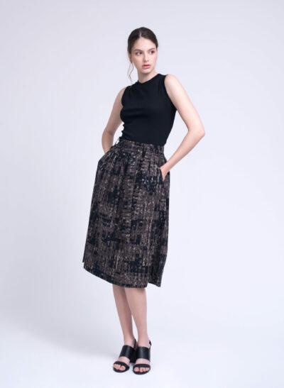 חצאית | BAMBOO | שחור חום