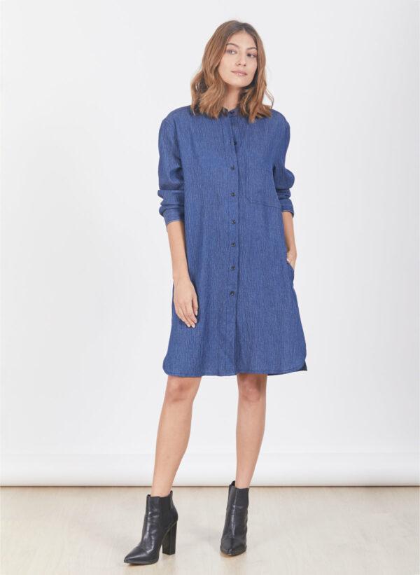 שמלה | DAKOTA | ג'ינס כחול