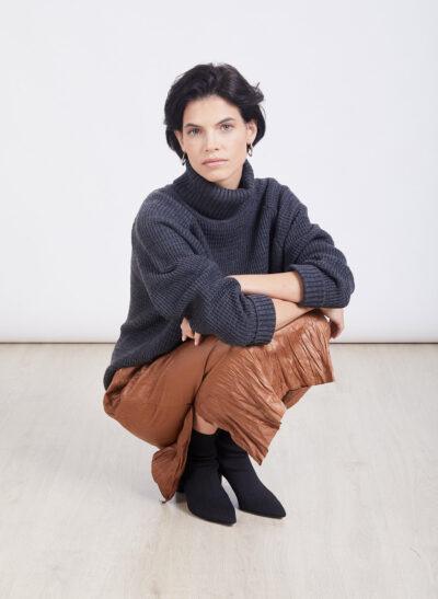 חצאית | IVY | חום