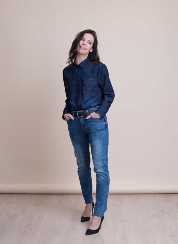 חולצה | WEST | כחול ג'ינס