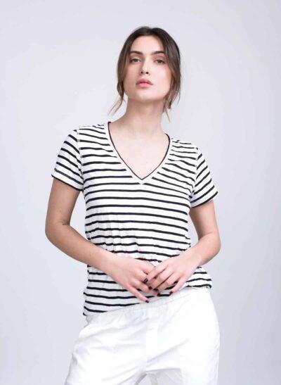 חולצה | APPLE S/20 | פסים שחור | PreOrder