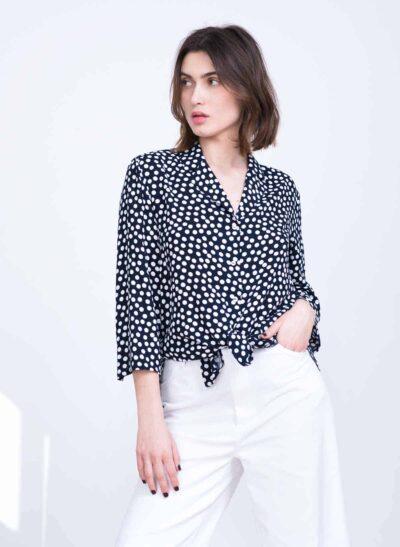 חולצה | MARSEILLE | כחול נקודות | PreOrder