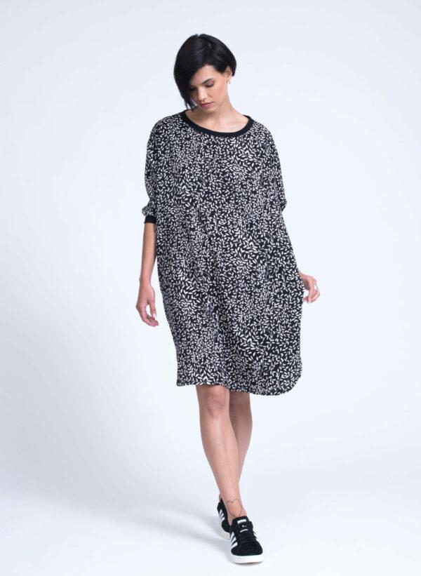 שמלה | RIPLEY | שחור לבן