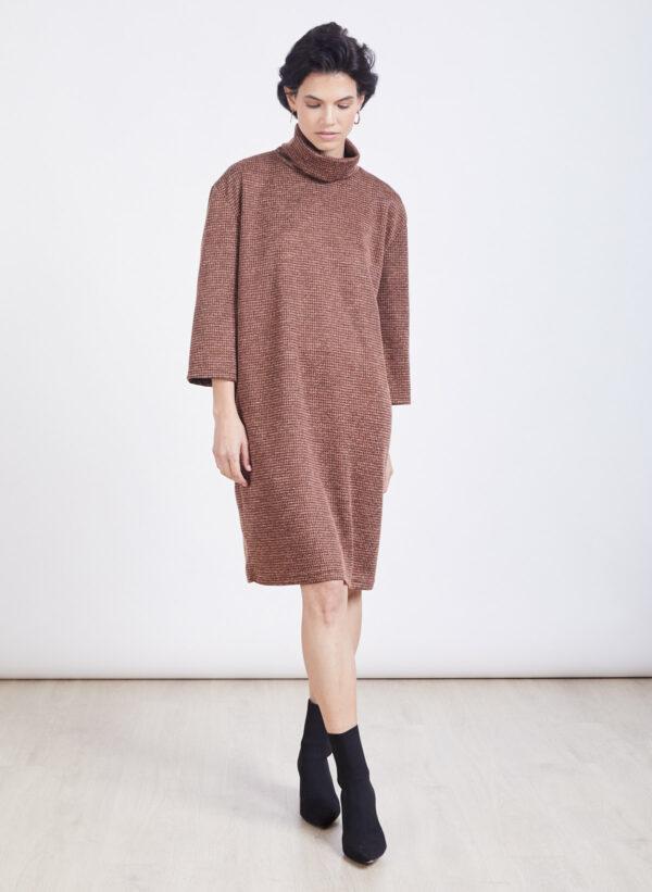 שמלה | NINA | חום