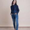 חולצה   WEST   כחול ג'ינס