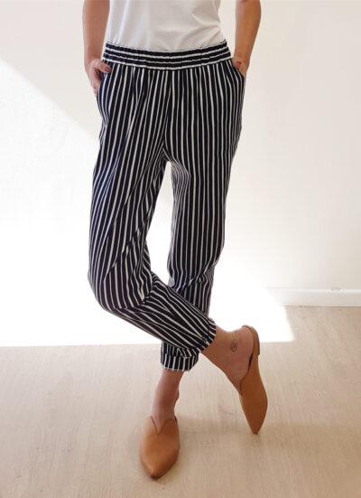 מכנסיים | ALMOND S/20 | כחול לבן | PreOrder