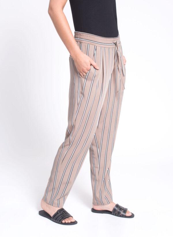 מכנסיים | ASIF | בז' פסים